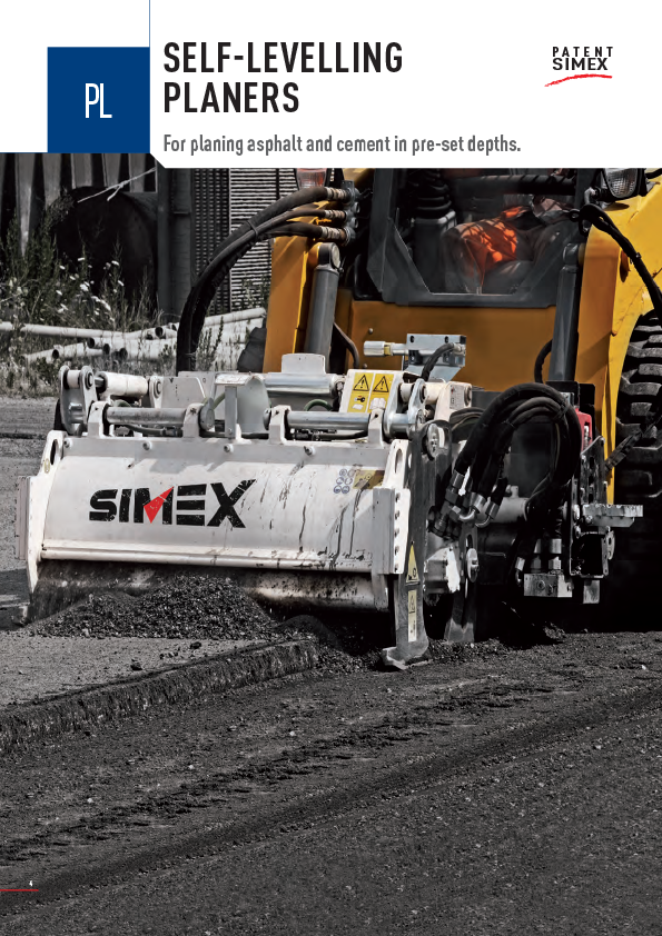SIMEX SELF LEVELLING PLANERS